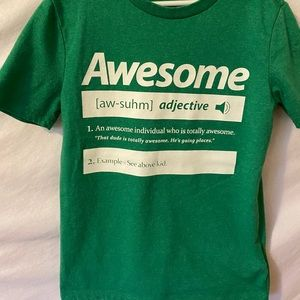 Old Navy Boys Size M Awesome Definition T-…